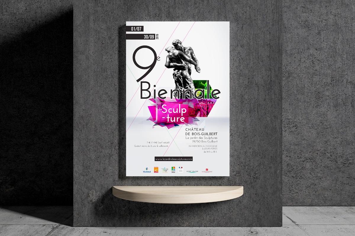 Projet d'affiche biennale de sculpture