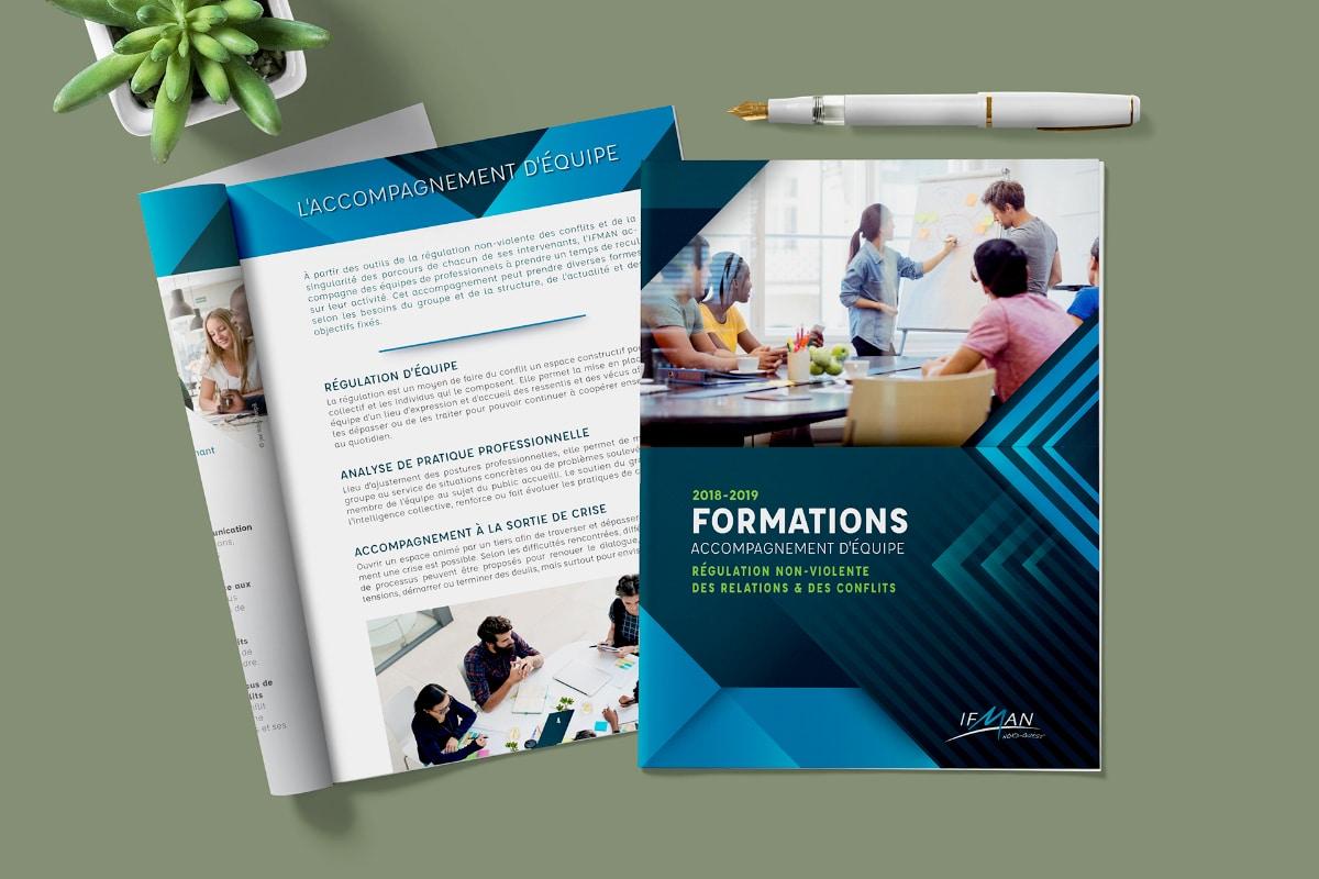 Couverture et extrait Brochure 16 pages pour formation 2019