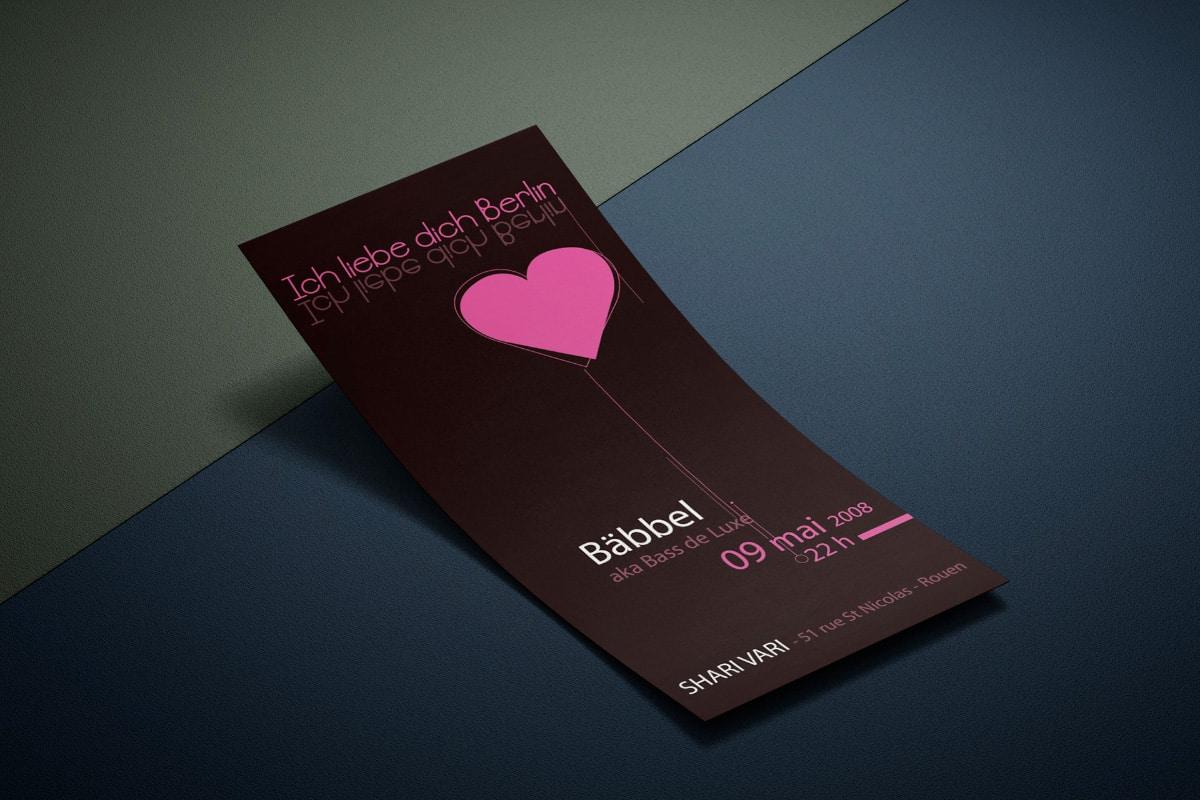 Flyer pour soirée mix Babbel au shari vari en 2008