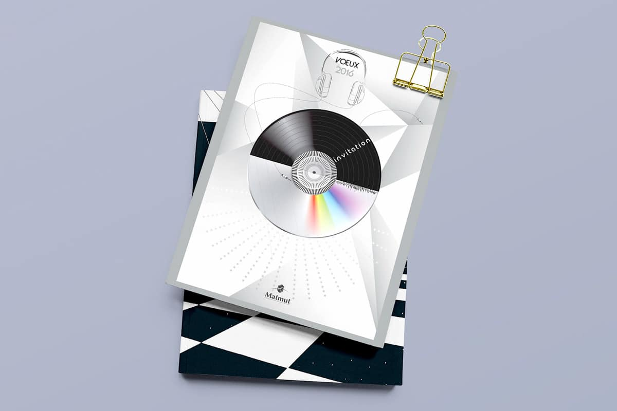 Carton d'invitation soirée mix des vœux