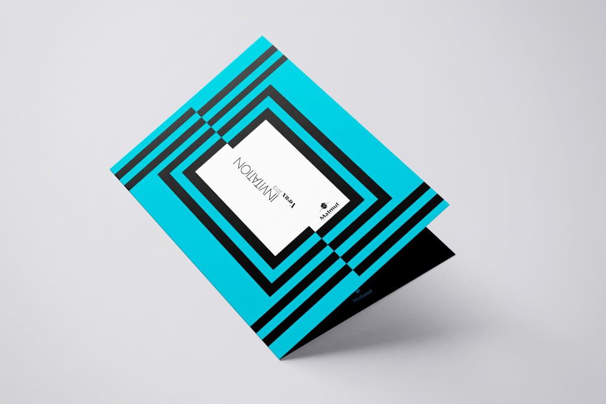 Carton d'invitation institutionnel pour invitation