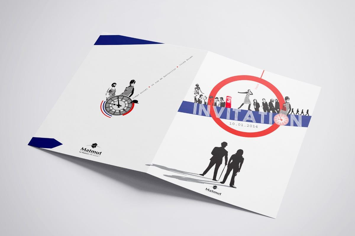 Projets de Carton d'invitation thème l'Angleterre les 60's