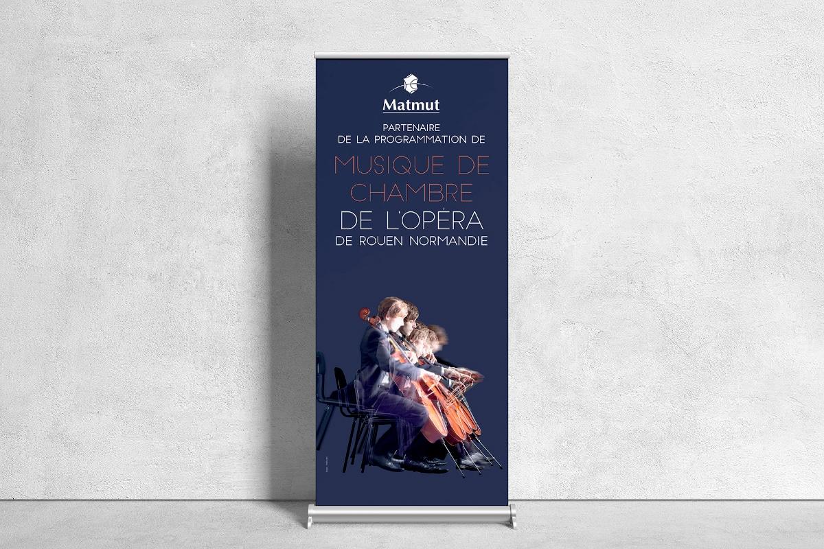 Kakémono pour le partenariat avec l'Opéra de Rouen