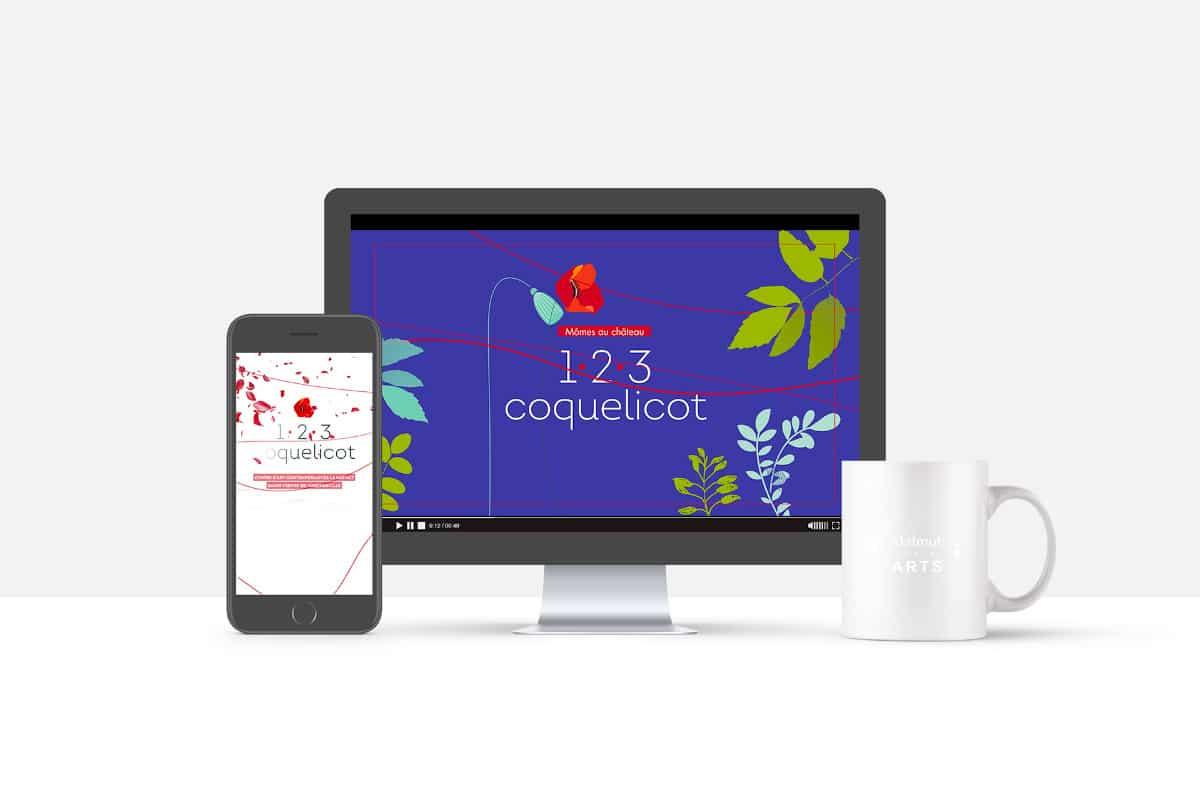 teaser coquelicot version desktop et version smartphone RS