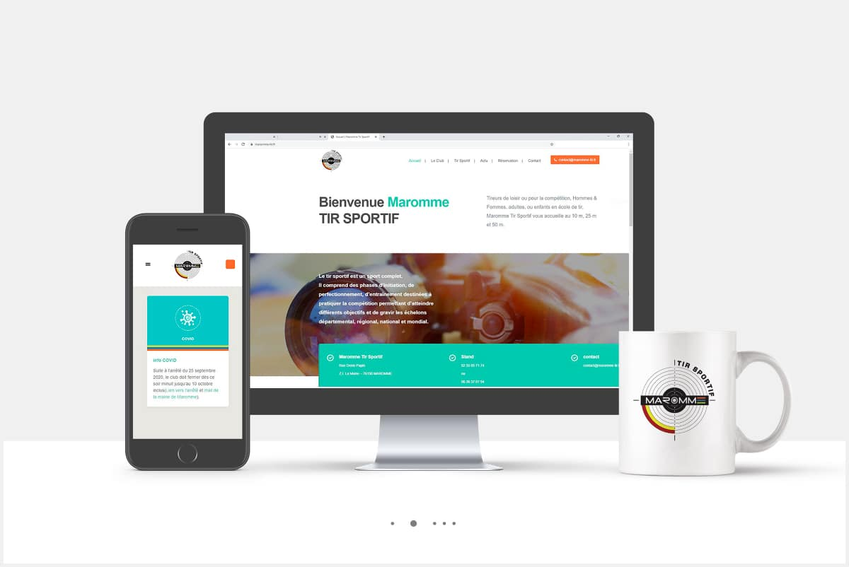 Site web version desktop & smartphone avec logo MTS